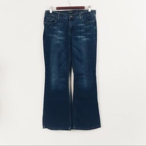 T211 American Eagle Flare Jeans Size 8 Older Style